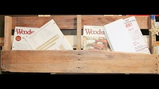 Magazine Rack Pallet Wood Project
