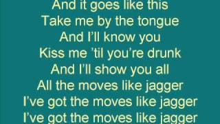 moves like jagger lyrics maroon 5