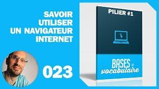 023 - P1 - Savoir utiliser un navigateur internet