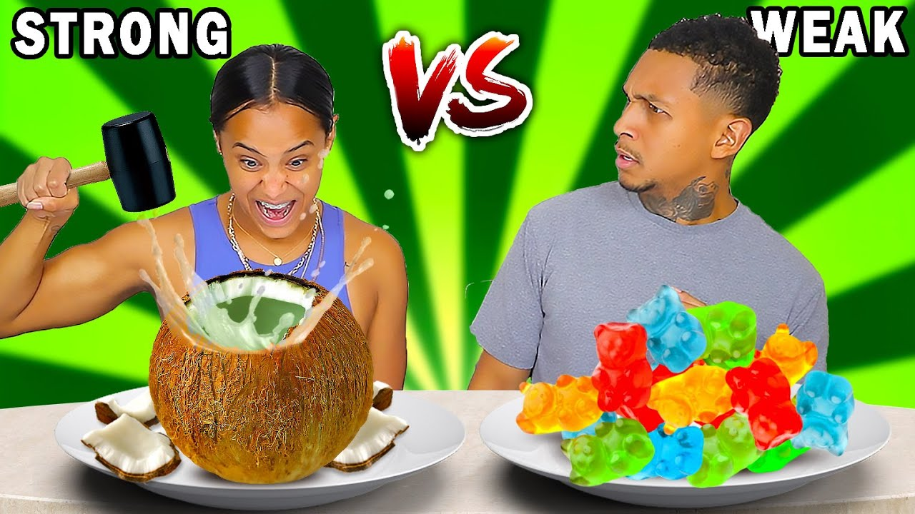 STRONG VS WEAK FOOD CHALLENGE!