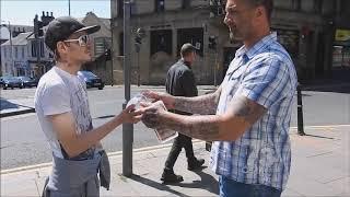 Flat Earth - £100 Street Challenge Trial Run