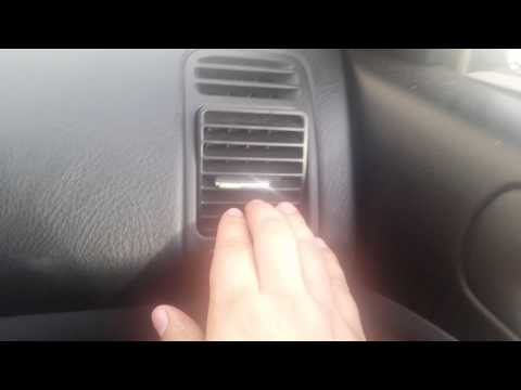 Remove AC side vents civic