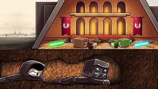 Minecraft   SNEAKING INTO THE JEDI TEMPLE! (Secure Star Wars Building)