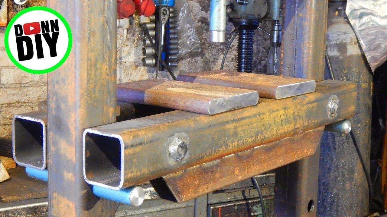 DIY 30 Ton Hydraulic Shop Press - YouTube