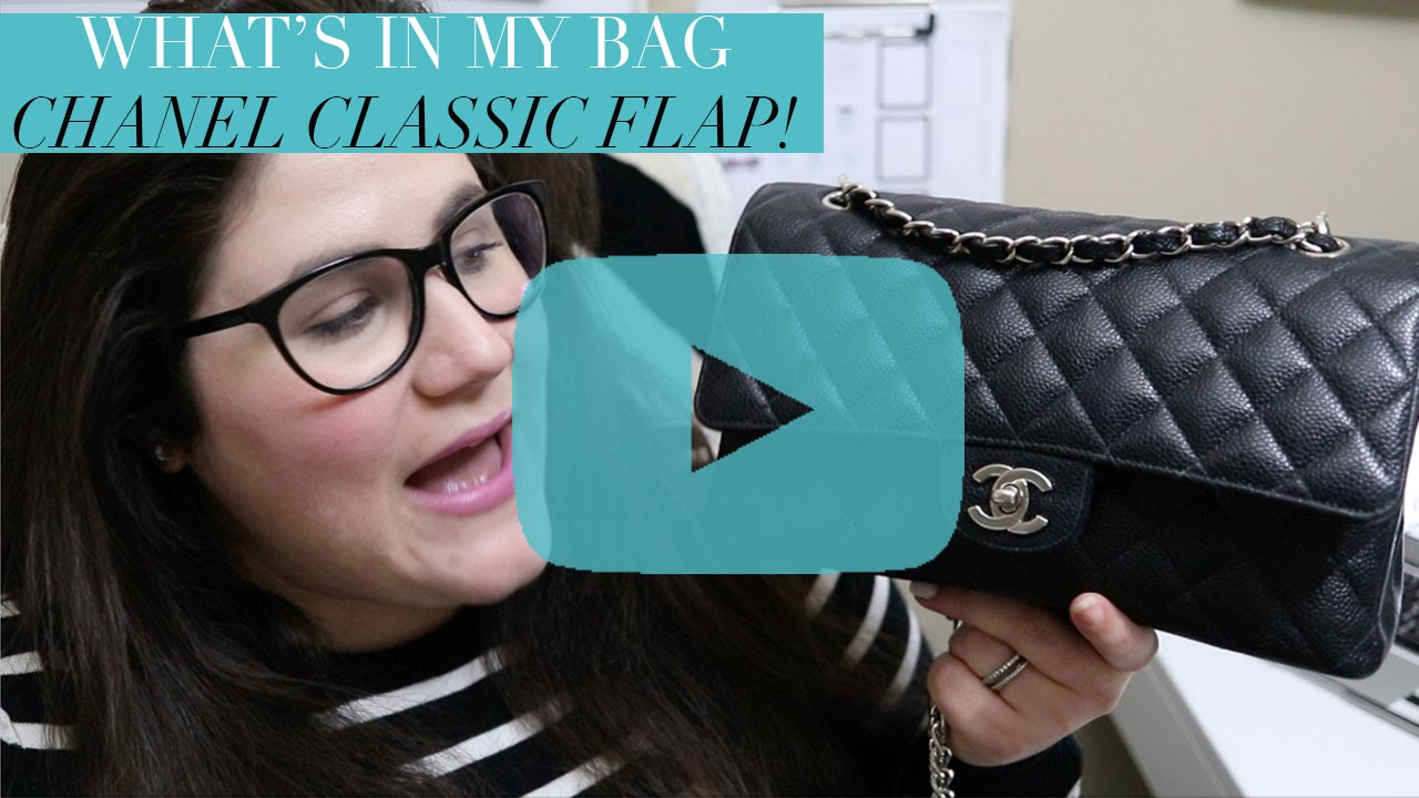 2794ecf7f849 What's In My Bag   Chanel Classic Flap {Medium, Black Caviar with ...