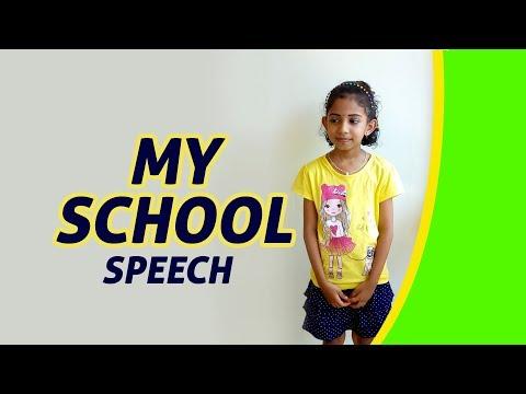 My School | Speech English LKG UKG Kindergarten Kids Competition Students Online Education Tutorial