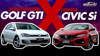 Novo Civic Si X Golf Gti! Quem Vence Na Pista O Duelo Dos Eternos Rivais? - Especial #191