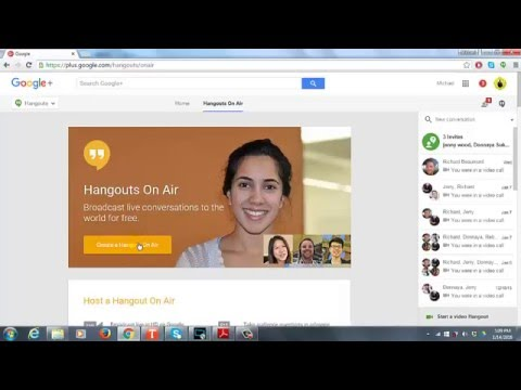 Google Hangout Onair Screen Sharing With Presenter Webcam Visable