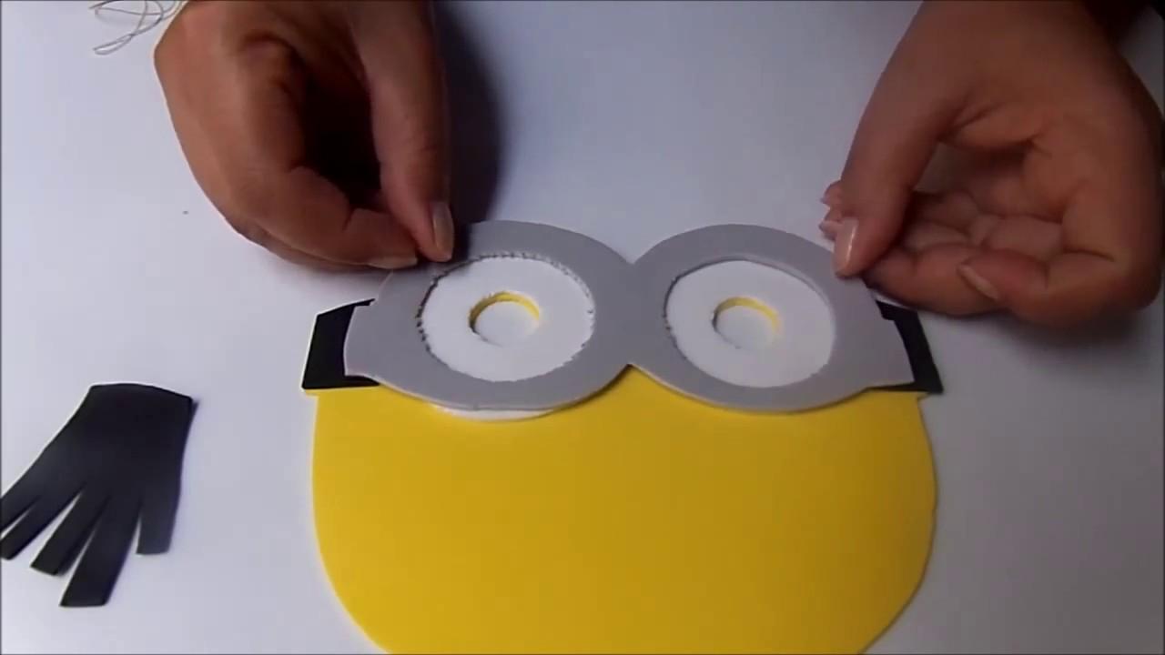 Minions Como Fazer A Mascara Dos Minions Youtube