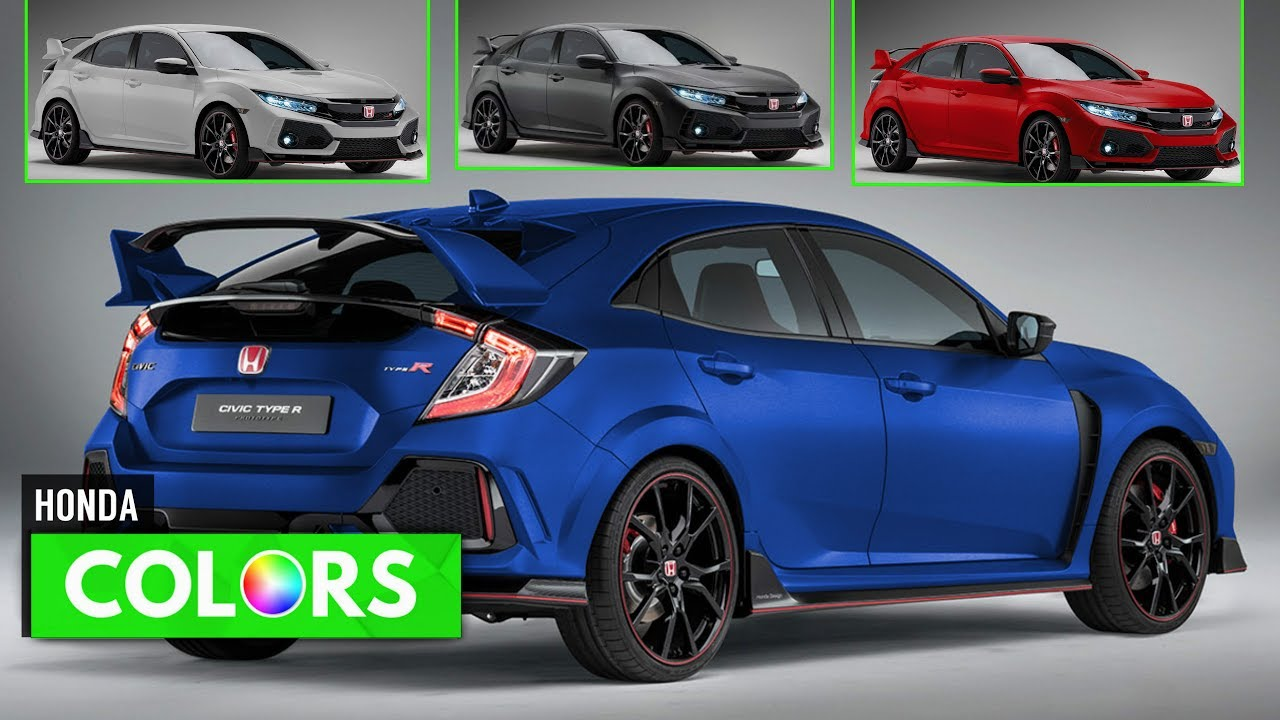 2018 honda civic type r colors youtube for 2018 honda civic colors