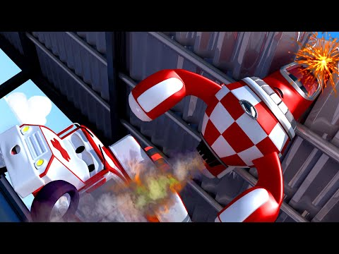 Thumbnail: Rocky the Rocket - Amber the Ambulance in Car City l Cartoons for Children