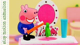 Peppa's morning Peppa Pig TV stop motion animation in english