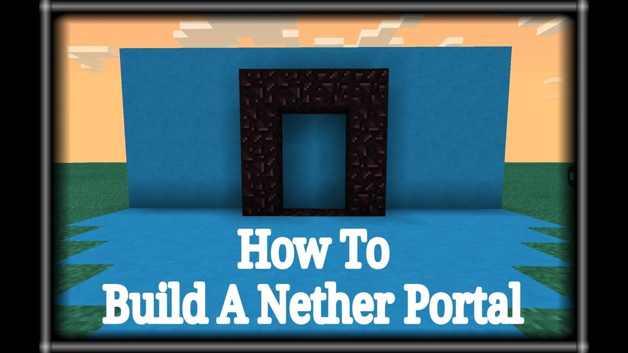 tutorial how to build a minecraft portal