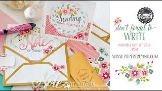 Papertrey Ink NEW Make It Market Kit: Don't Forget to Write