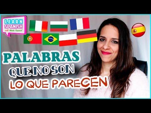 FALSOS AMIGOS en español    Vocabulario español    Learn Spanish with Maria Español