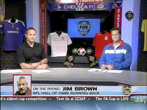 Jim Brown interview, live on Fox Soccer Channel
