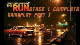 Need For Speed THE RUN BEGINING GAMEPLAY PART 1 Stage 1 Complete Story Mode