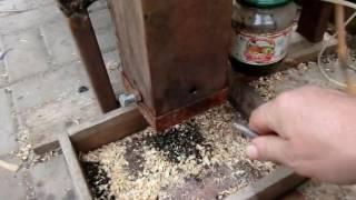 Коптильный шкаф, отрабатываем просесс копчения и работы дымогенератора