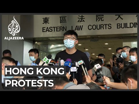 Hong Kong activist Joshua Wong appears in court