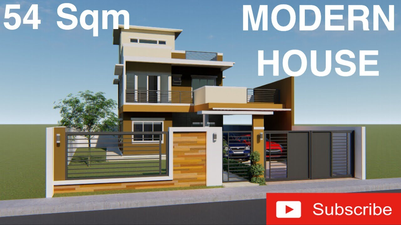 Modern House Design 3d With Walk Through 2 Storey Residential With Roof Deck Youtube