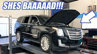 My WIFES Escalade Goes Back On The Dyno With The New FORGED Motor! Will It Be Enough Power For Her?