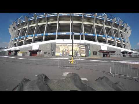 Spartan race sprint 2015 estadio azteca youtube for Puerta 1 estadio azteca