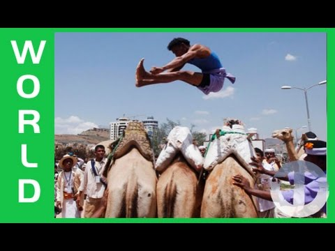 Camel Jumping in Yemen on Trans World Sport