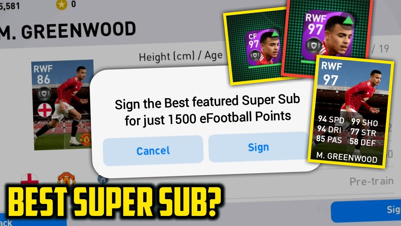 GREENWOOD is the Best Super Sub in Pes⚡ | Best Featured to Redeem from Shop • Pes2021