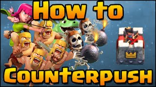 Clash Royale - How to CounterPush | Guide, Advanced Strategy, Tips & Tricks for Winning!