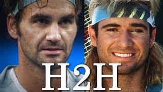 Federer vs Agassi - All 11 H2H Match Points (HD)