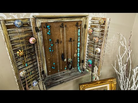 How To - Paige Hemmis' DIY Rustic Jewelry Rack - Hallmark Channel
