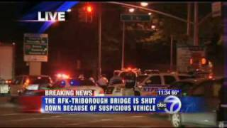 Breaking News  RFK Bridge shut down due to abandoned rental truck.flv