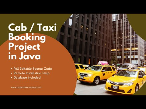 Cab Booking - Taxi Booking Project in  Java Swing with JDBC image