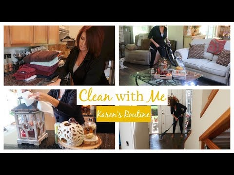 Clean With Me | Karen's Routine | 2018 | The2Orchids