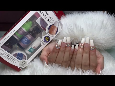 DIY: Kiss Acrylic Kit | FullSet Of Acrylic Nails Using KISS Acrylic Kit | $15 Acrylic Nails Kit