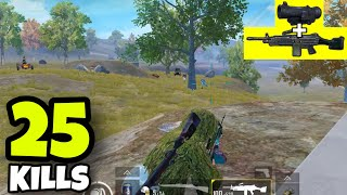 KING OF M249!!! | M249 + 6X SCOPE NO RECOIL | PUBG MOBILE