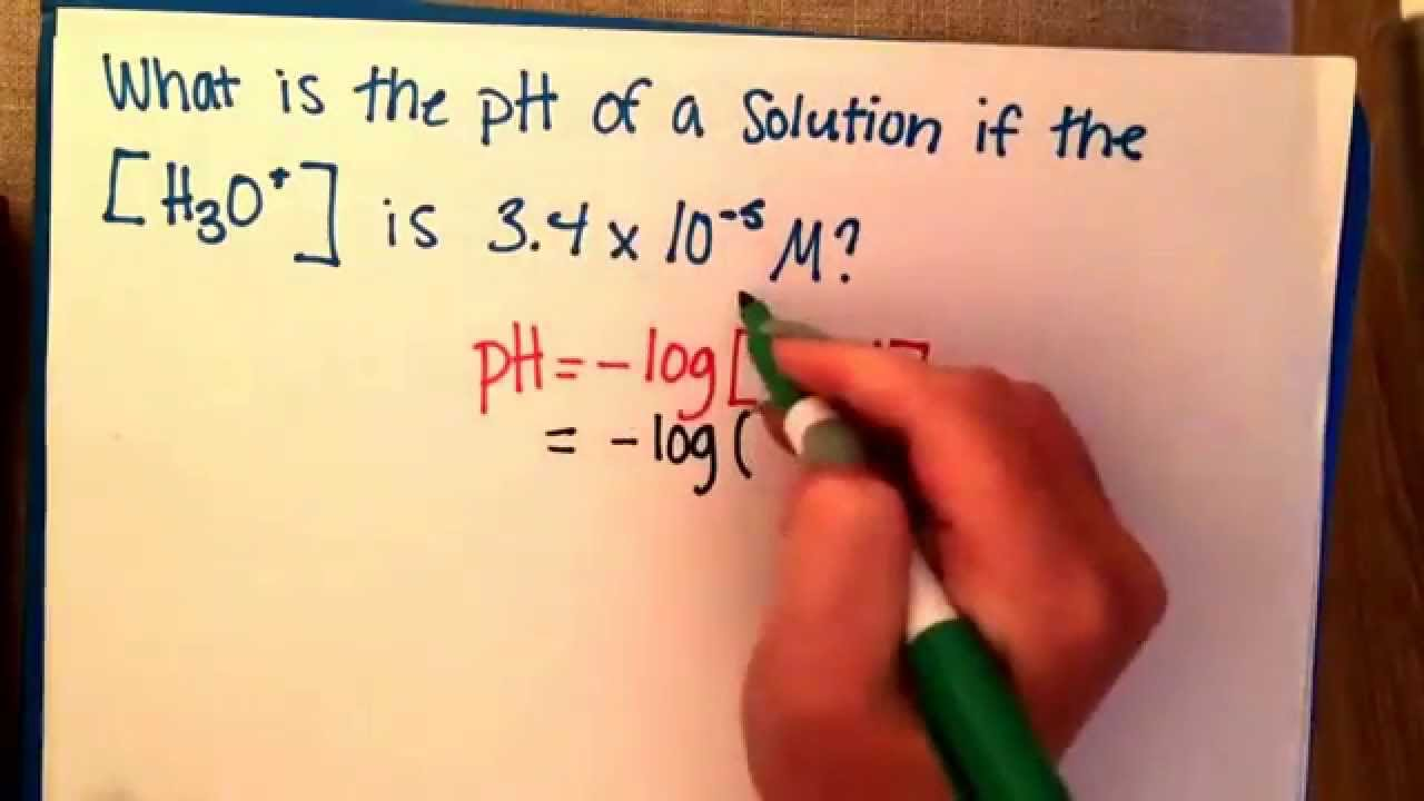 how to find poh using ph