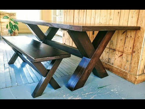 Bench for farm table