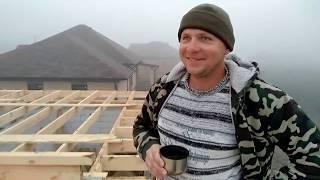 Вальмовая крыша часть 2 обрешетка под металл.