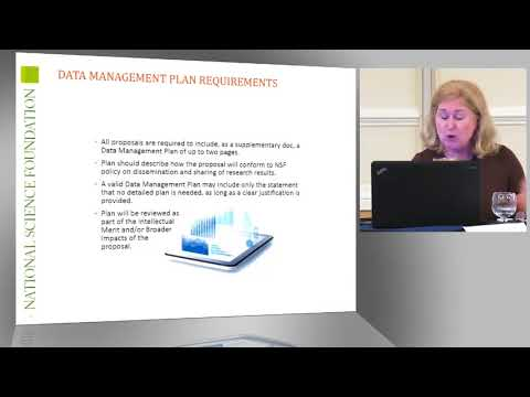 NSF Data Management Plan Requirements