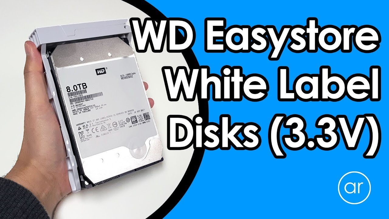 How to Fix the 3 3V Pin Issue in White Label Disks Shucked from Western  Digital 8TB Easystore Drives