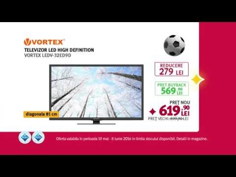 Reclamă ALTEX Vortex TV LED Fotbal - mai 2016