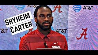 Alabama Crimson Tide Football: Shyheim Carter speaks to media