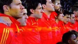 fifa 2010 spanish national anthem : Spain  vs Honduras :