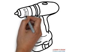 Easy Step For Kids How To Draw a Drilling Machine