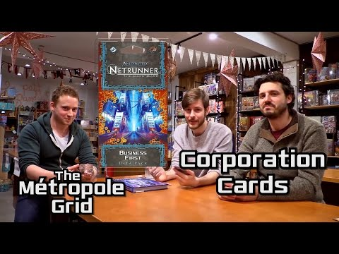 Netrunner Unboxing: Business First - Corporation Cards
