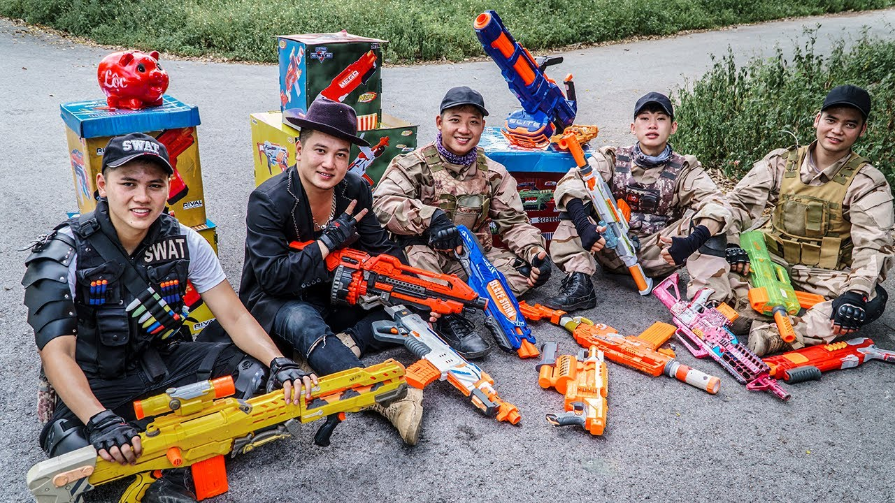 LTT Game Nerf War : Warriors SEAL X Nerf Guns Fight Wanted Criminals Braum Crazy Bounty Hunter