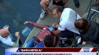 """""""ŞAHİKA NEFES AL"""" ... ŞAHİKA ERCÜMEN'İN REKOR DENEMESİ BAŞARISIZ OLDU"""