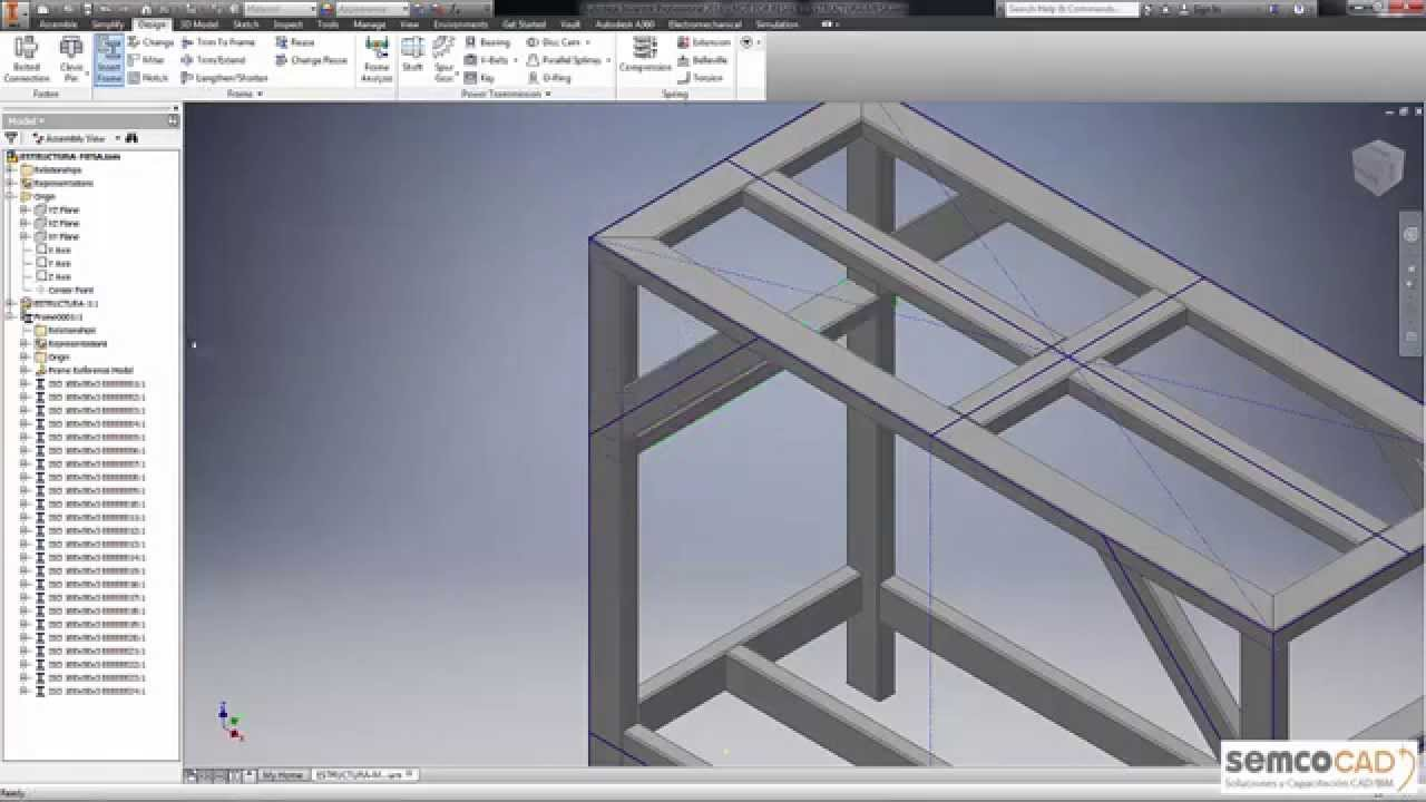 Inventor metal mecanica estructuras youtube - Estructuras de metal ...