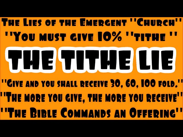 Rebuking The Tithe Lie & True Almsgiving - Exposing The Emergent